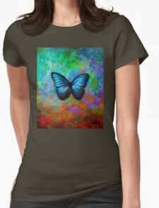 Butterfly on colorful iridescent background T-Shirt