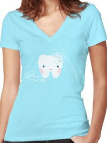 Little Tooth  Women's Fitted V-Neck T-Shirt