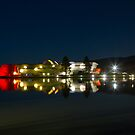 Reflections of Midnight-National Museum and Telstra Tower, Canberra ACT by DespinaT