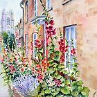 Hollyhocks at Stoke by Nayland by Ann Mortimer