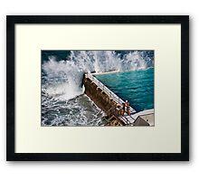Bondi Beach Splash Framed Print