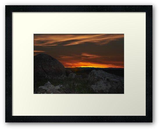 Wiradjuri Country Sunset by bazcelt