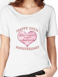 25th. Anniversary Women's Relaxed Fit T-Shirt