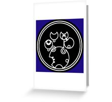 Doctor Who - Together or Not at All in Gallifreyan Script Greeting Card