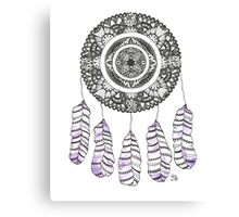 Watercolor and Ink dreamcatcher Canvas Print