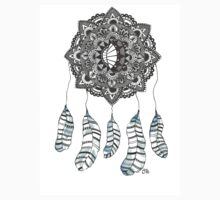Watercolor and Ink dream catcher (blue) T-Shirt