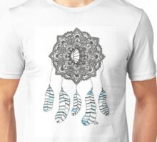 Watercolor and Ink dream catcher (blue) Unisex T-Shirt