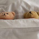"""This bed is just right"" sleeping little Teddy Bears Children's Art by Rick Short"
