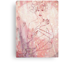 Nude In Pink. Canvas Print