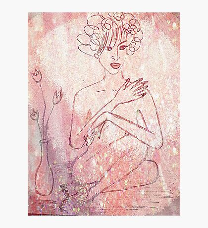Nude In Pink. Photographic Print