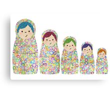 Rainbow Matryoshka Nesting Dolls Canvas Print