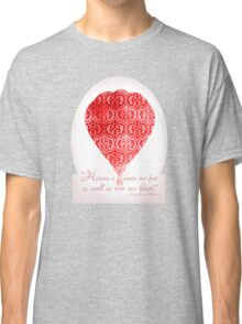 Red Hot Air Balloon Inspirational Literary Henry David Thoreau Quote Typography Art Print Classic T-Shirt