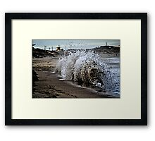 Gritty Shores Framed Print