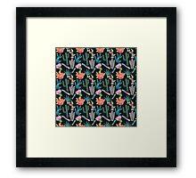 Desert Nights Seamless Pattern Framed Print