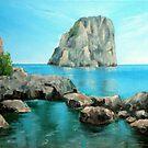 Faraglioni - Capri, Italy by Carole Russell