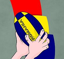 Rugby Romania Flag by piedaydesigns