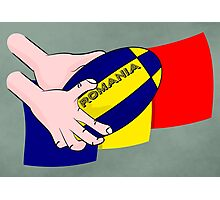 Rugby Romania Flag Photographic Print