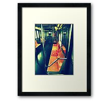 Fab Retro 7 train Framed Print