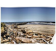 Coquille River Jetties Poster