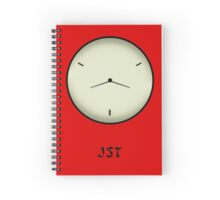 Japan Standard Time JST Clock Spiral Notebook