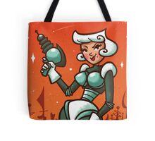 Retro Robo Girl Tote Bag