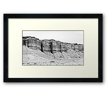 Grand Staircase Escalante Black and White Framed Print