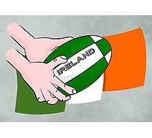 Rugby Ireland Flag Photographic Print