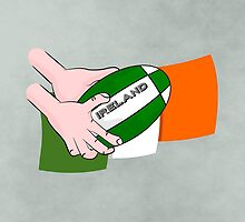Rugby Ireland Flag by piedaydesigns