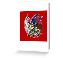 Black Luster Soldier Icon - Yugioh! Greeting Card