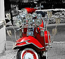 Red Vespa by Phil Connor