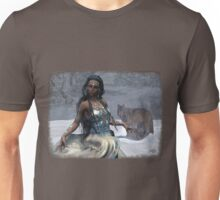 Native American Fantasy 1: Winter Wolf Unisex T-Shirt