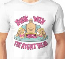Think With the Right Head Unisex T-Shirt