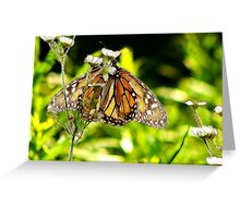 Monarch in Art Greeting Card