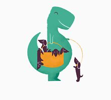 T-Rex and his Basketul of Wiener Dogs Unisex T-Shirt