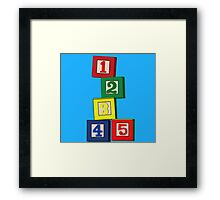 Toy Blocks Framed Print