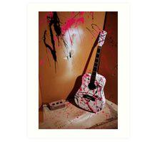 Fun with Salvaged Guitars Art Print