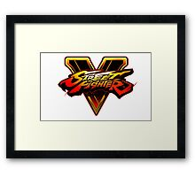 Street Fighter V - Logo Framed Print