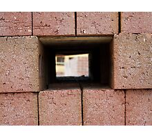 Through the brick wall Photographic Print