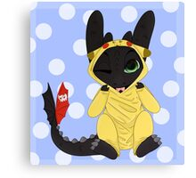 Little Toothless Canvas Print