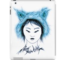Not your Kitty, Inuit blue iPad Case/Skin