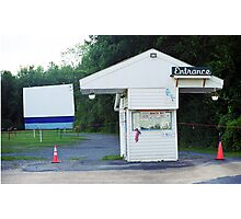 Auburn, NY - Drive-In Theater Photographic Print