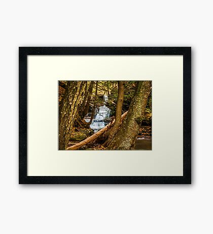 A falls in the hollow Framed Print