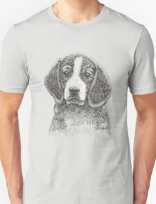 Beagle dog hand drawing Unisex T-Shirt