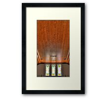 HDR- SMLC - Balcony Windows and Ceiling Framed Print