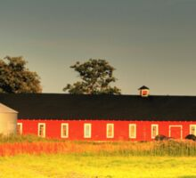 Long Red Barn Sticker