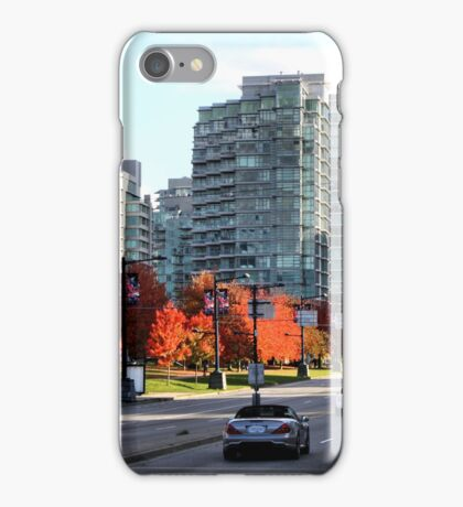 Autumn in Downtown Vancouver, Canada iPhone Case/Skin