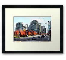 Autumn in Downtown Vancouver, Canada Framed Print