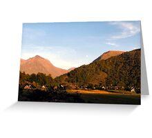 Sunset in Glen Coe Greeting Card
