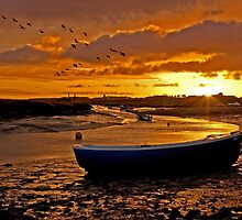 Sunrise at Morston Quay by ten2eight