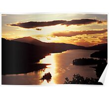 Sunsetting over Queens View Poster